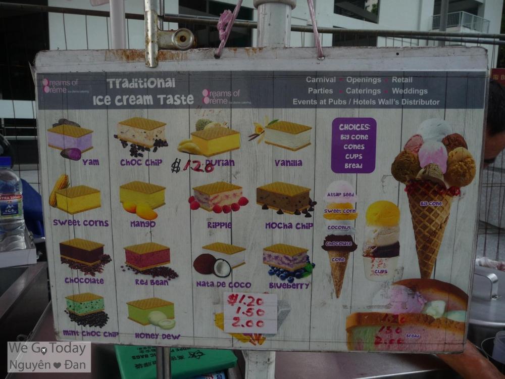 Giá kem của Wall's