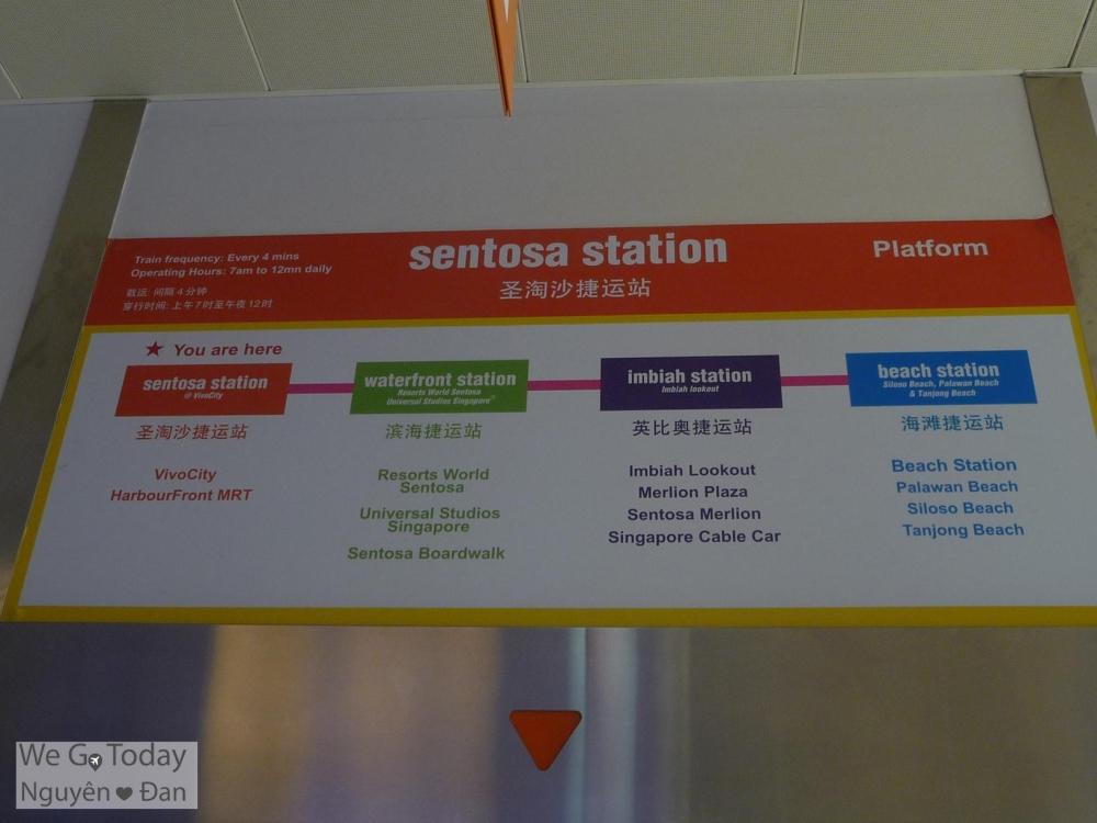 4 trạm tàu điện tại Sentosa