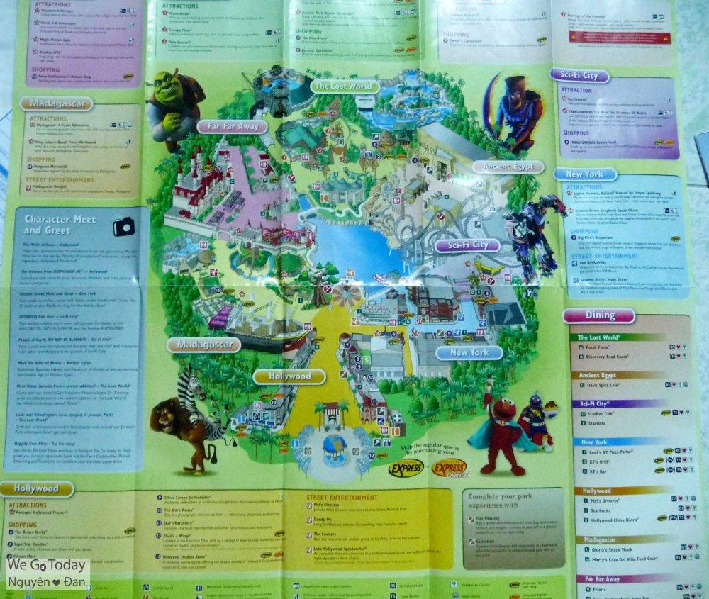 Toàn cảnh bản đồ Universal Studios