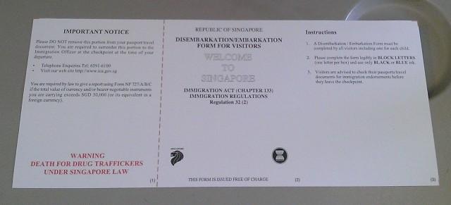Embarkation Form
