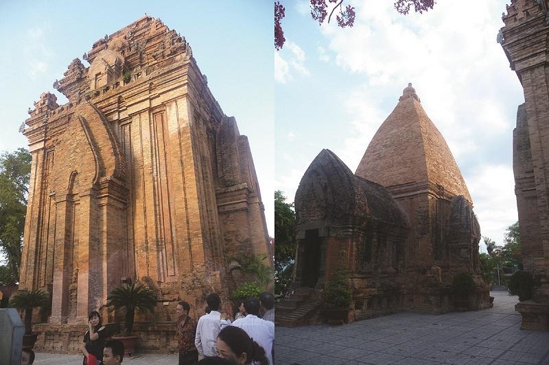 Một số tháp trong khu tham quan