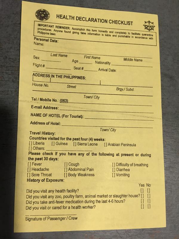 Form nhận trên máy bay