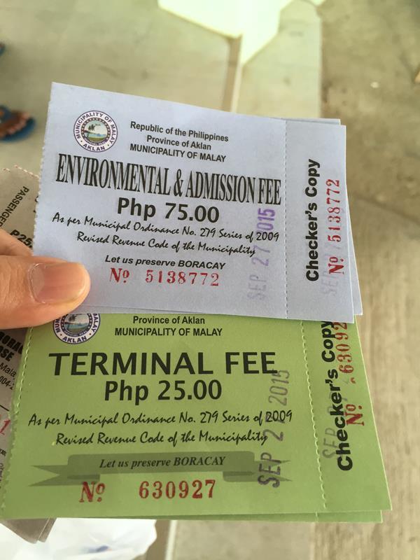 Terminal fee + environment fee