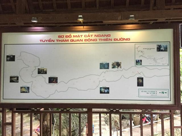 Bảng đồ tham quan Động Thiên Đường