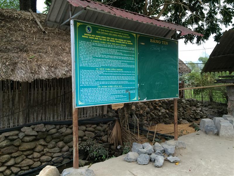 Bảng tin đầu thôn - Làng Văn Hóa Du Lịch Cộng Đồng Thôn THA
