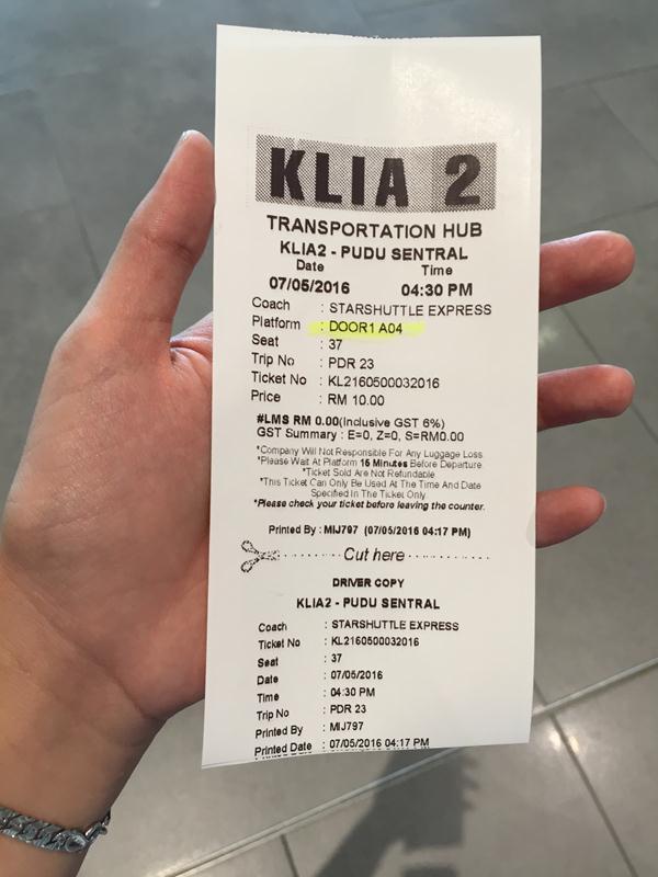 Vé xe buýt vào thành phố KL