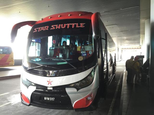 Xe buýt vào thành phố KL