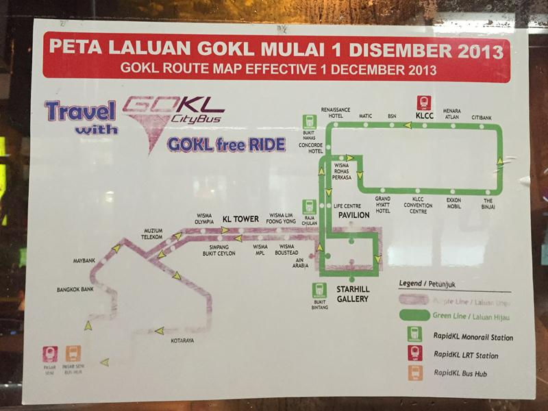 Bản đồ tuyến bus GoKL miễn phí
