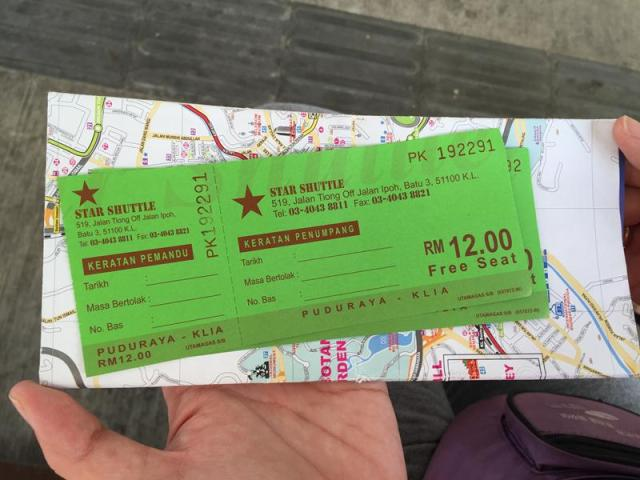Vé bus Star Shuttle đi từ Puduraya đến KLIA