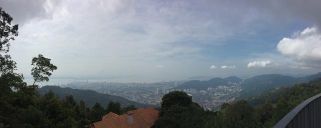 Cảnh thành phố Penang nhìn từ Penang Hill