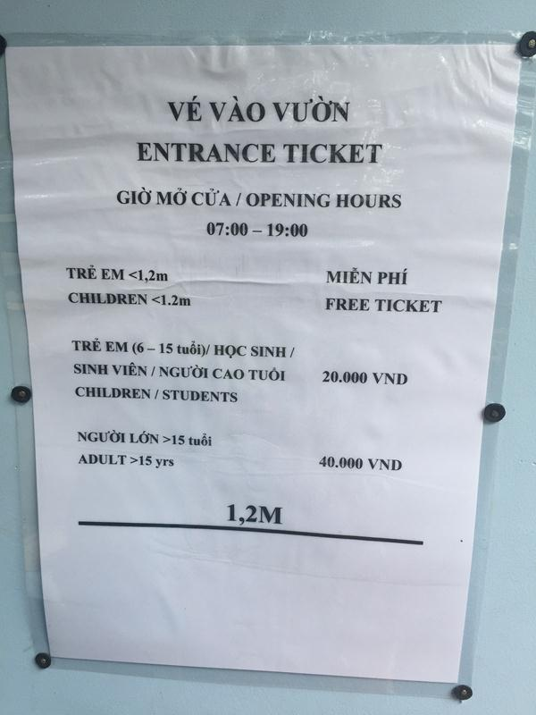 Giá vé Nam Cát Tiên