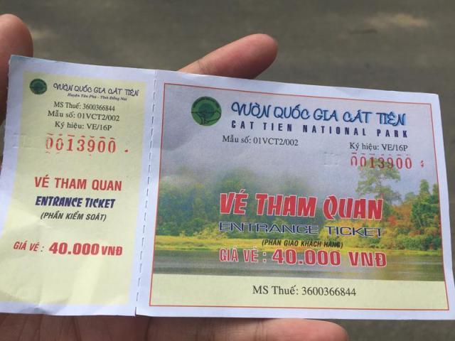 vé Nam Cát Tiên