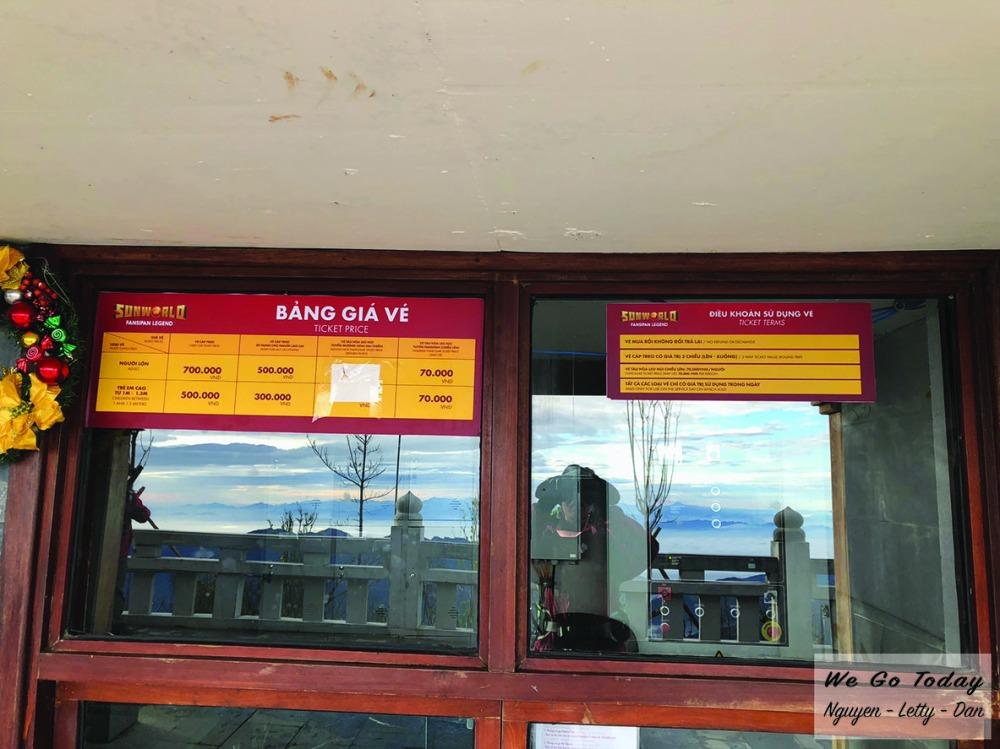 Bảng giá cáp & xe lửa ở Fansipan