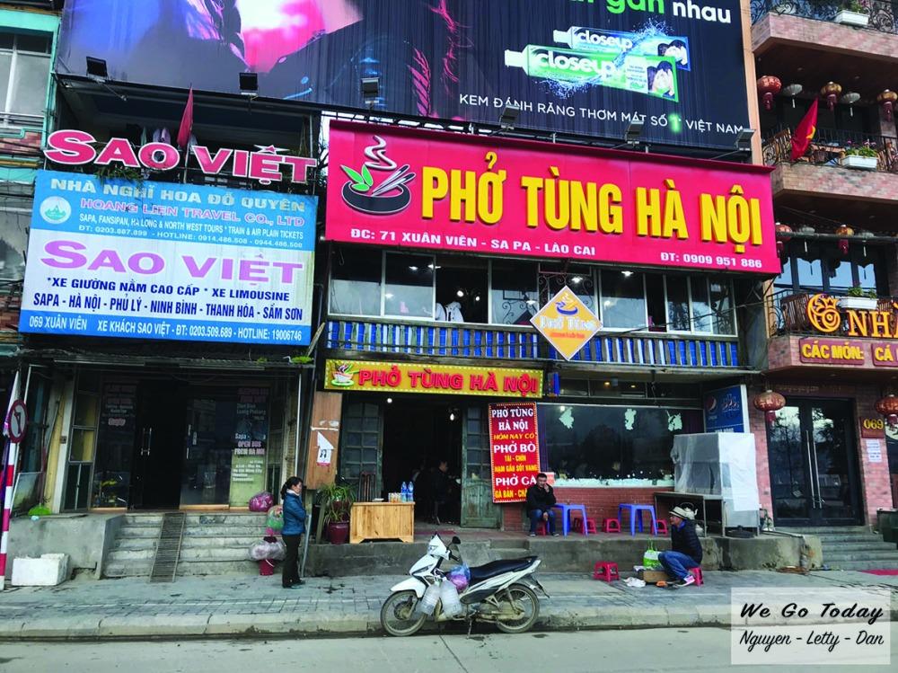 Phở Tùng Hà Nội ở Sapa