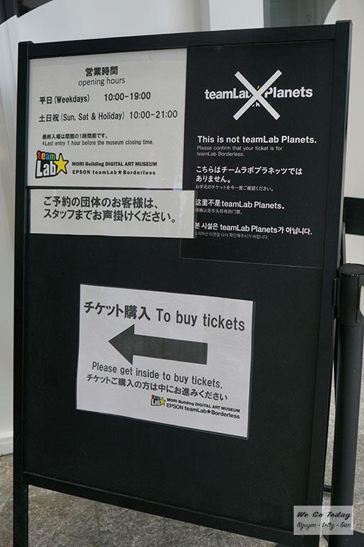 Hướng dẫn đường vào quầy mua vé