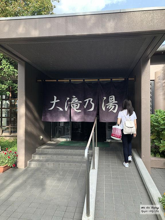 Khu tắm onsen mà mình đi ở Kasatsu