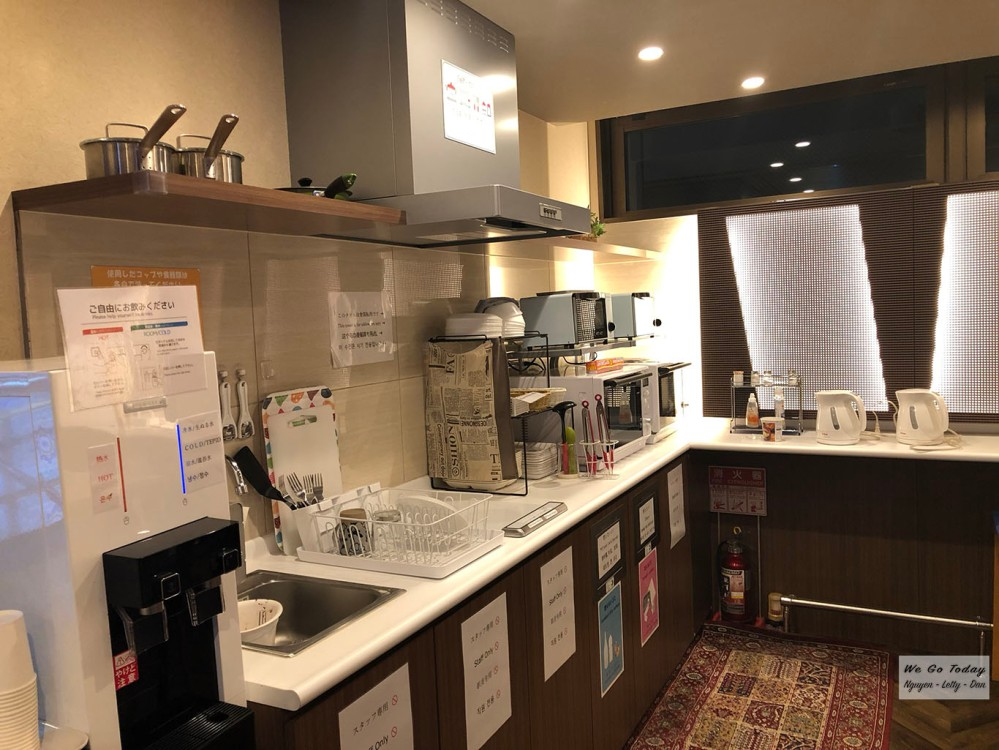 DJ Hostel Ginza - khu bếp