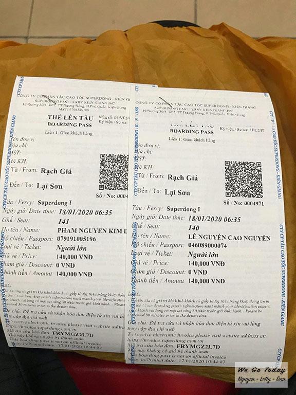 Vé tàu Superdong đi từ Kiên Giang đến Hòn Sơn
