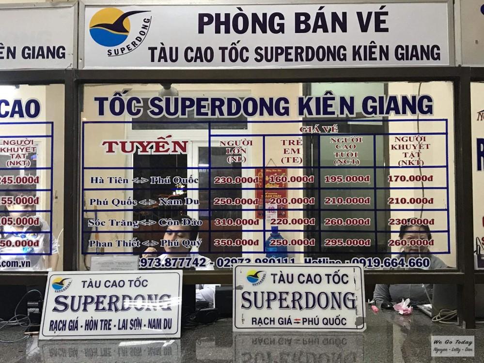 Quầy vé tàu Superdong ở Kiên Giang