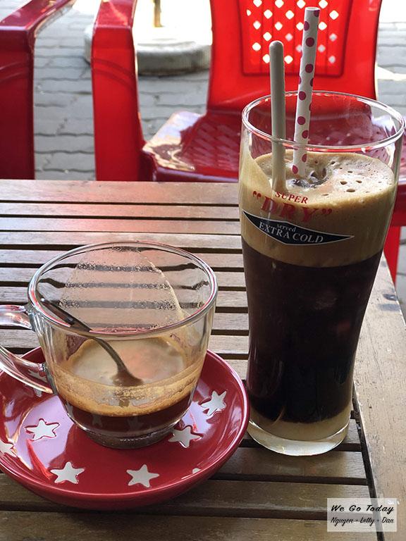 Cafe trên đường đi