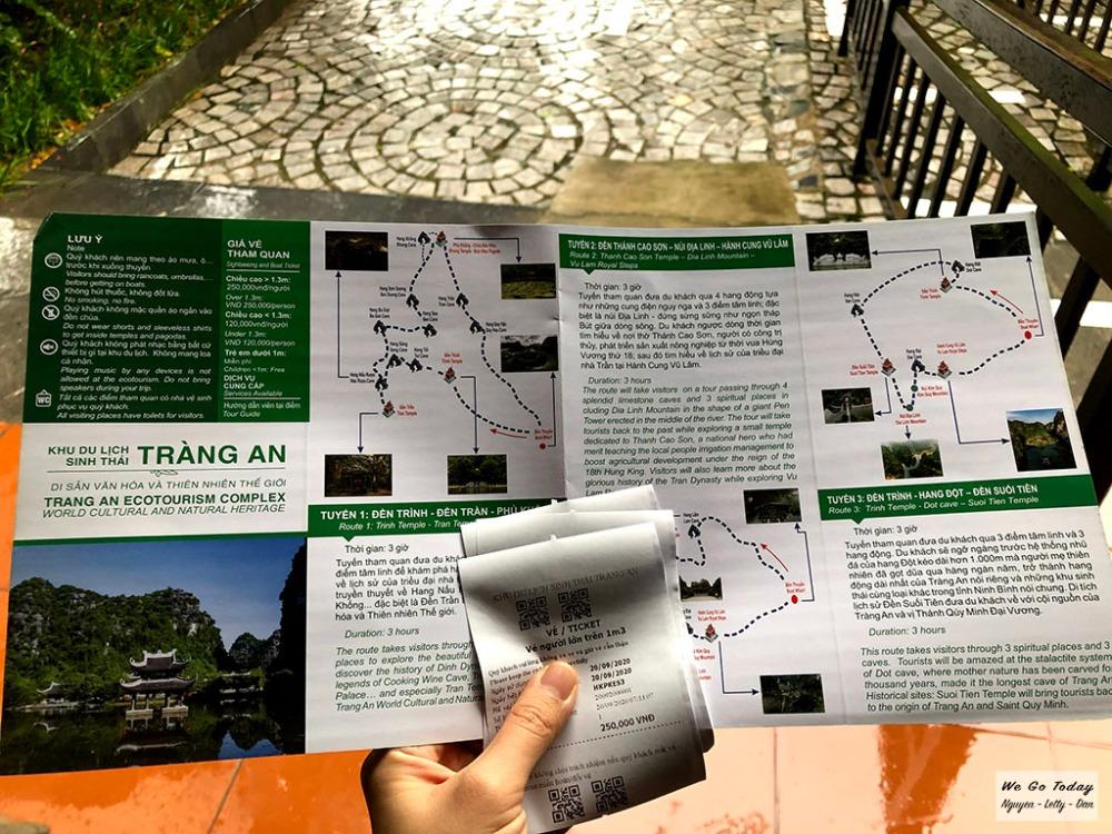 Vé và bản đồ Bến thuyền Tràng An